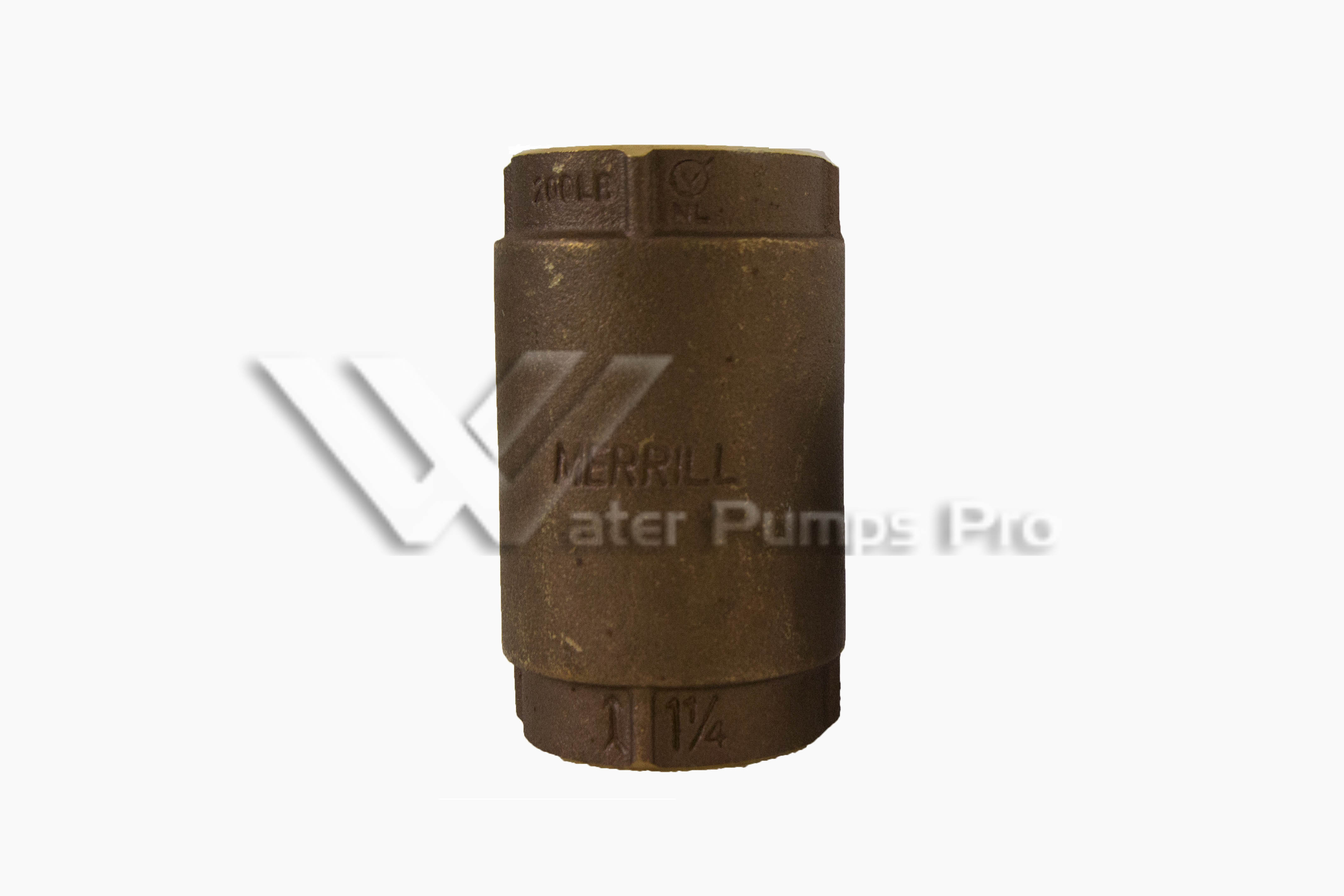 Merrill CVNL125 No Lead Brass Check Valve