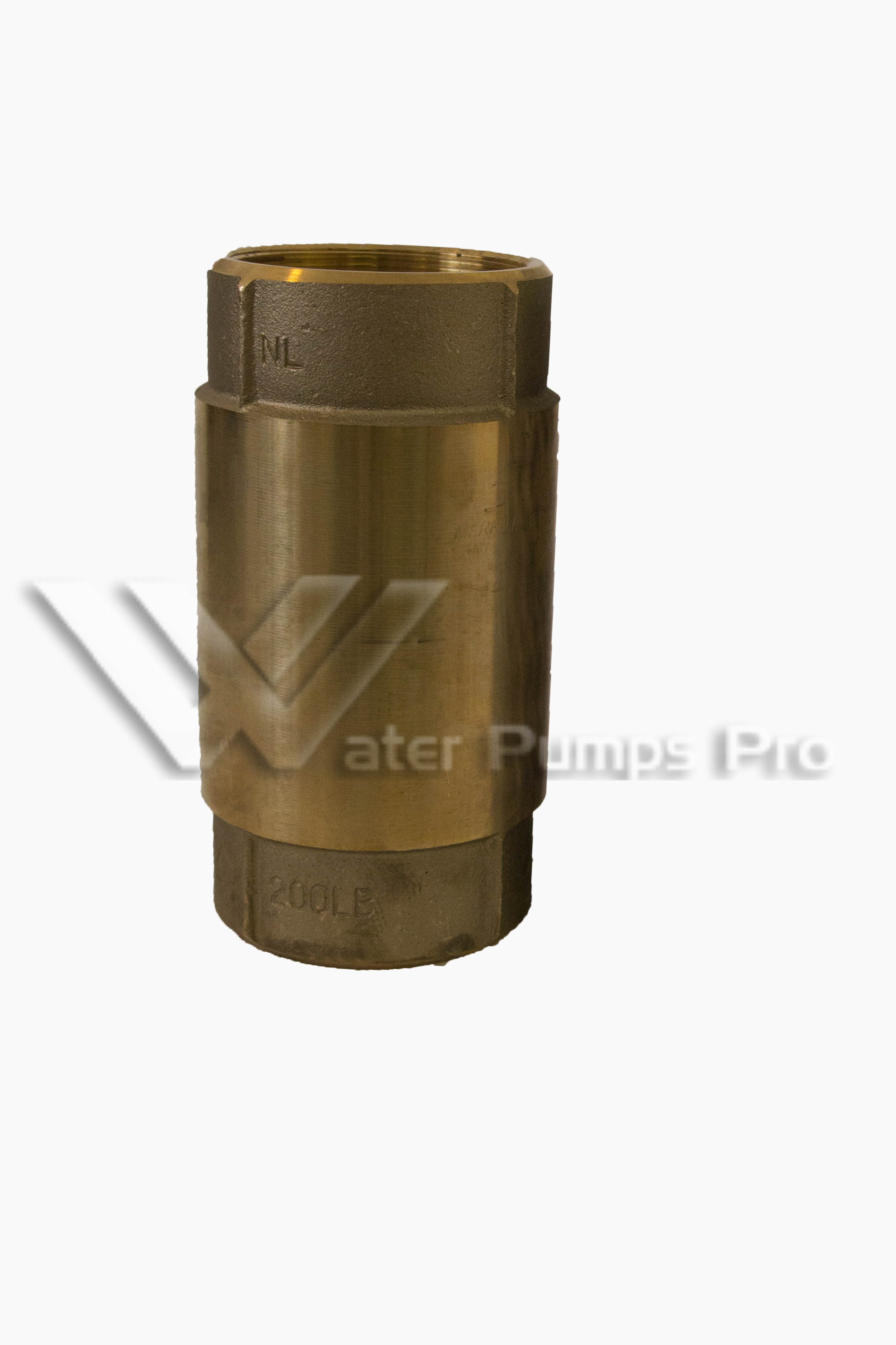 Merrill CVNL400 No Lead Brass Check Valve