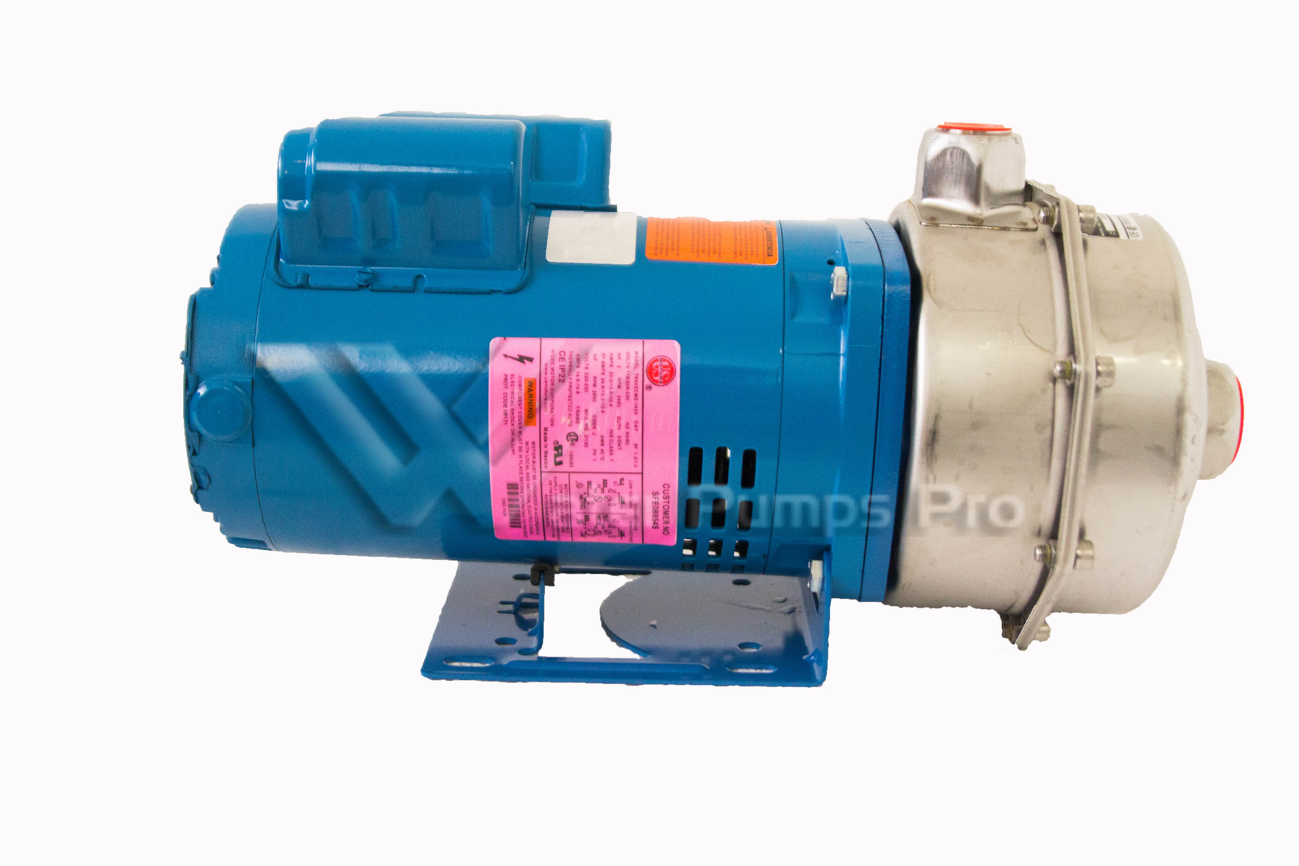 Goulds LCA1G1D0 LC Centrifugal Pump 304L SS 2HP 1PH ODP