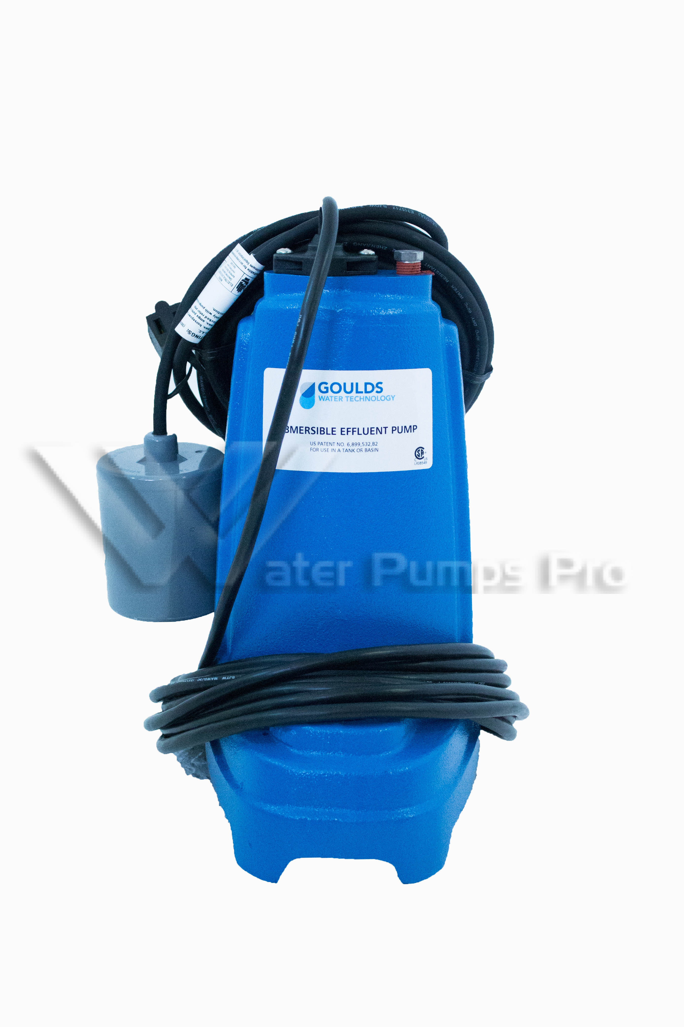 "Goulds PE31P1 1/3 HP, 115V Submersible Effluent Pump 1/2"" Solids"