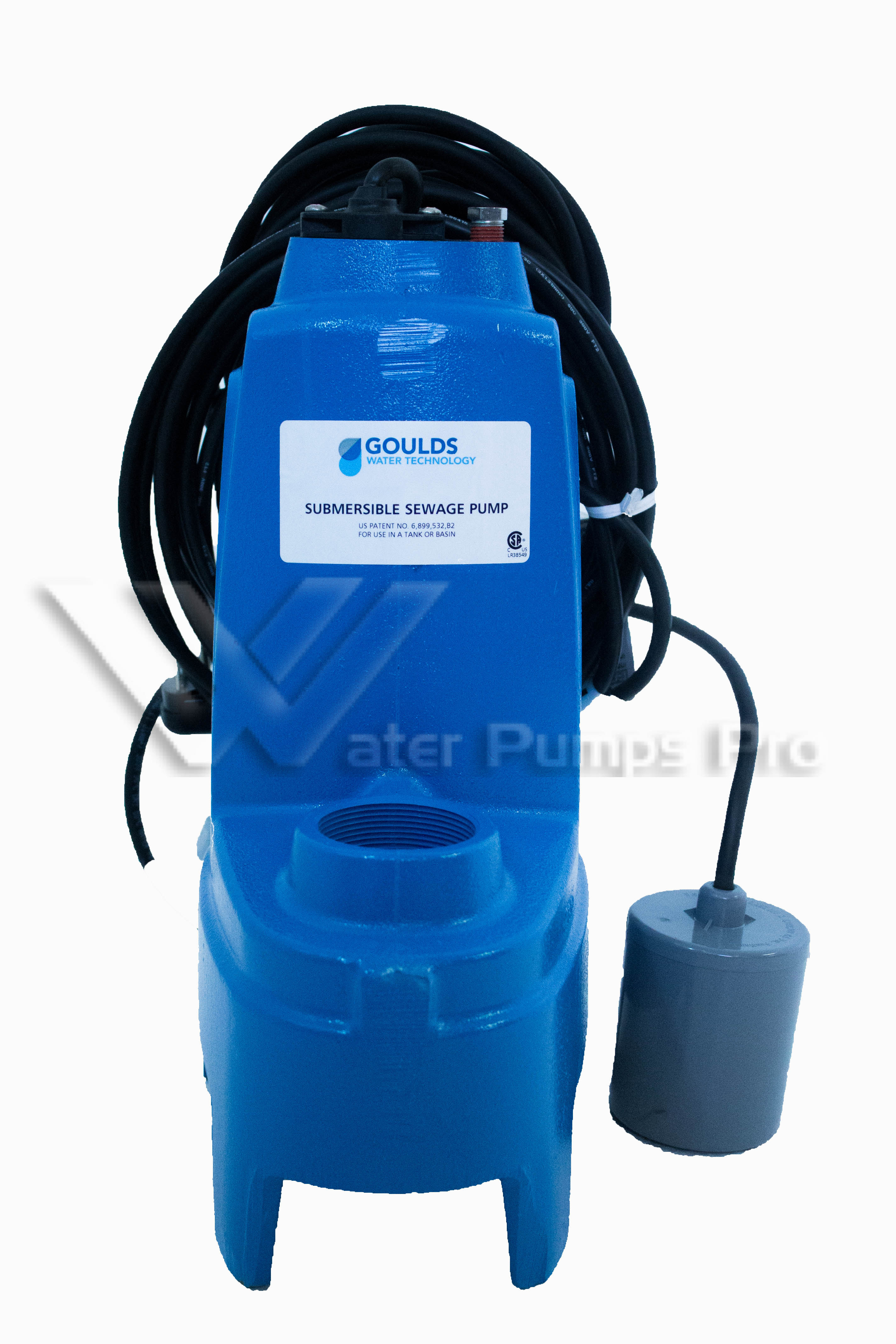"Goulds PS51P1F Submersible Sewage Pump 1/2HP 115V 2"" Solids"