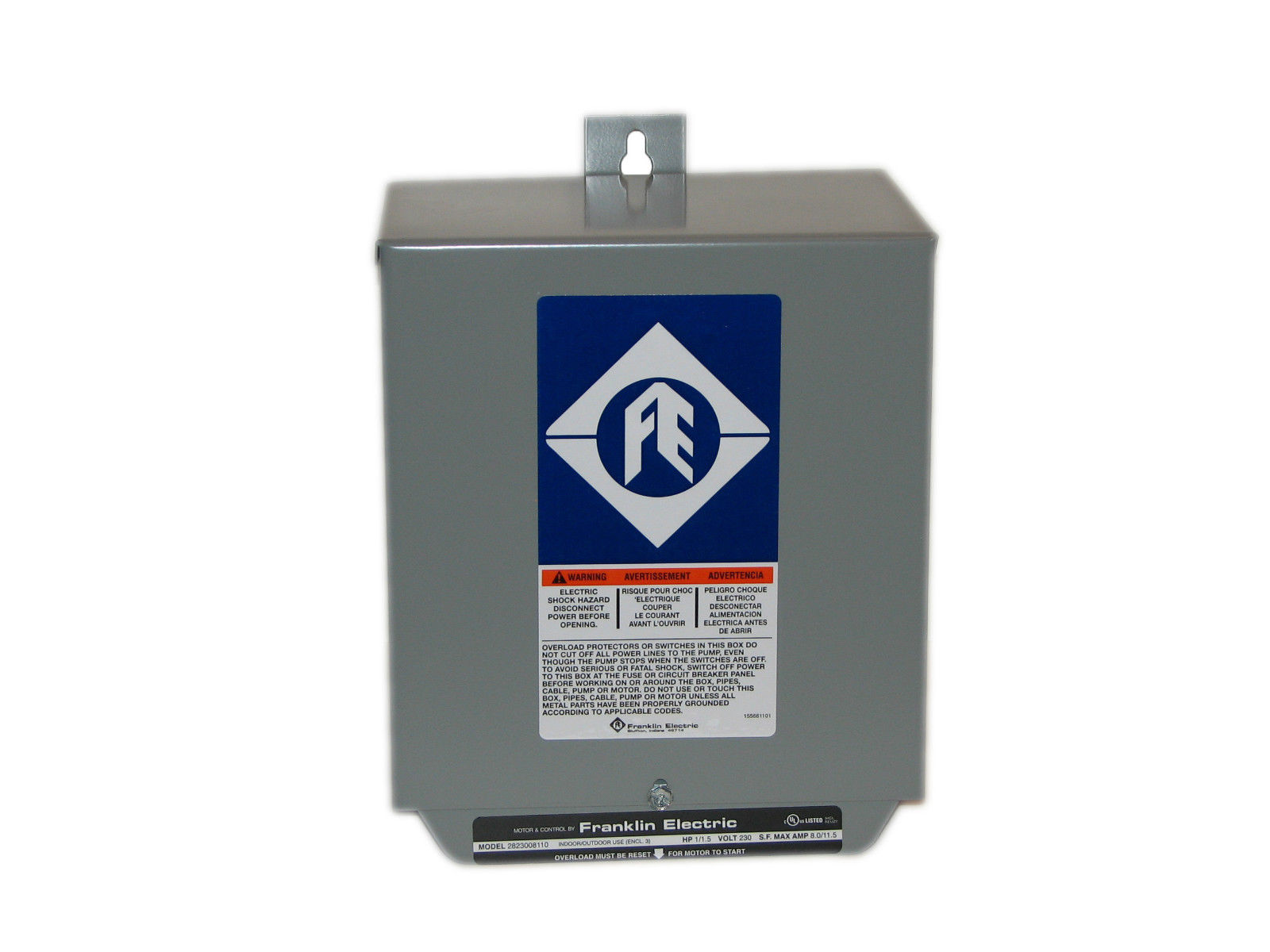 franklin 2823508110 4 3 wire control box 1 5 hp 220v 50hz 1ph franklin 2823508110 4 3 wire control box 1 5 hp 220v 50hz 1ph