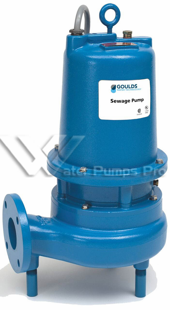 Goulds WS2038D3 Submersible Sewage Pump 2HP 200V 3 Phase