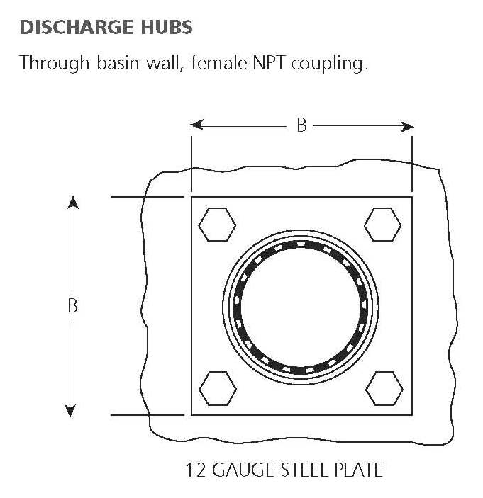 Dishcarge Hubs (female NPT cplg)